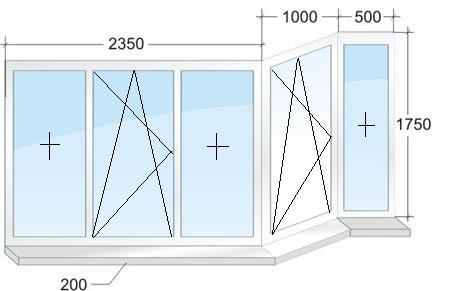 Размеры балконов в домах п-44..